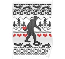 Gone Squatchin for Love this Holiday Poster