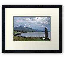 Standing stone at Keodale Green Framed Print