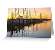 Golden Marina Greeting Card