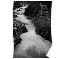 The Soteska Vintgar gorge in Black and White Poster