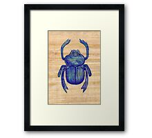 Heart Scarab Framed Print