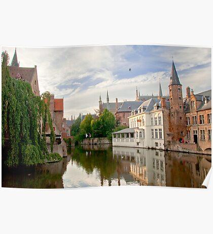 A Reflection on Bruges Poster