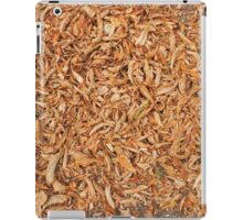 Ground in the park, covered with fallen leaves of chestnut iPad Case/Skin