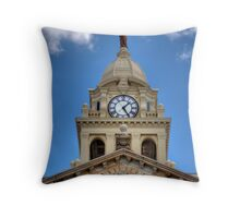 Marion County Courthouse Clock Tower Throw Pillow