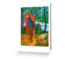 Paul Gauguin - The Wizard of Hiva Oa Greeting Card