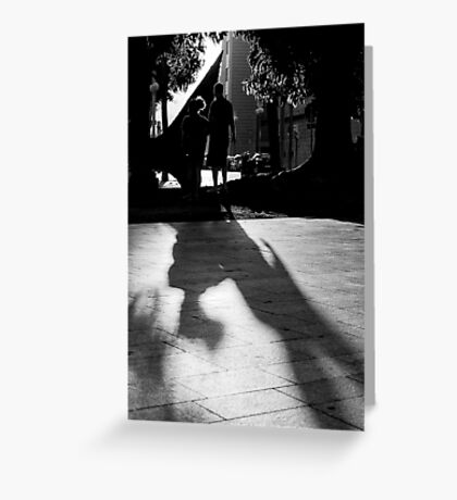 Silouhettes and shadows Greeting Card