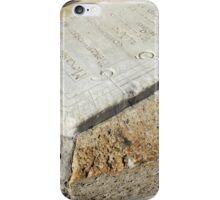 Fragment of old sundial clock face iPhone Case/Skin