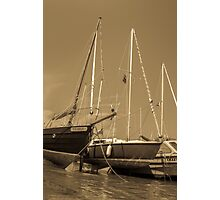 Sail boats in harbour Photographic Print
