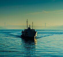 A steamboat in Bosphorus by hayrettinsokmen