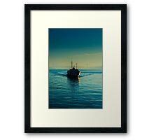 A steamboat in Bosphorus Framed Print