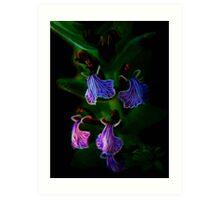 Fractal Lilac Elegy Art Print