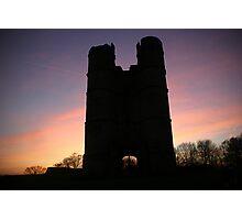 Donnington castle sunset Photographic Print