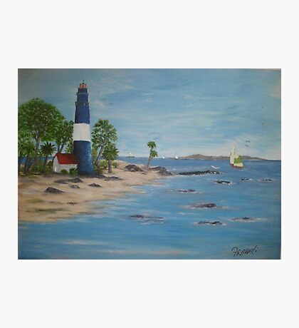 Lighthouse, a great day for sailing Photographic Print