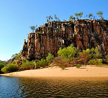 Katherine Gorge Beach by Karina  Cooper