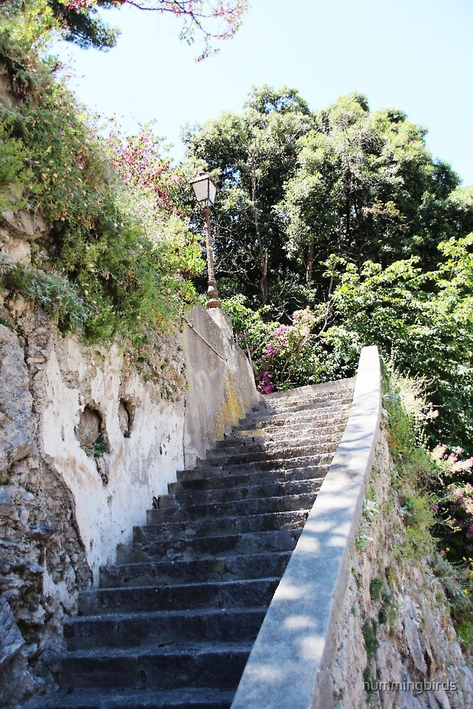 Ancient Stairway Impressionistic by hummingbirds