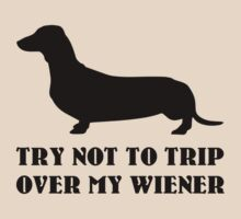 Try not to trip over my wiener by FunniestSayings