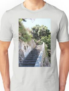 Ancient Stairway Impressionistic Unisex T-Shirt