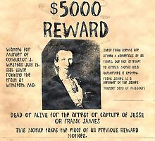 Jesse and Frank James Wanted by lawrencebaird