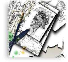 Sketchpad: pages from the ages Canvas Print