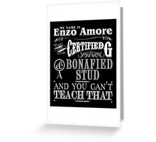 My Name is Enzo Amore-ZERO DIMES Greeting Card