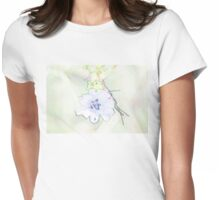 Blue cornflower colored pencils Womens Fitted T-Shirt