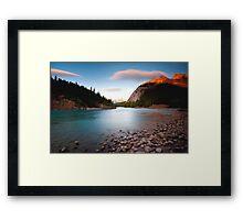 Banff, Alberta Canada - Bow River  Framed Print