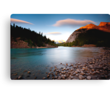 Banff, Alberta Canada - Bow River  Canvas Print