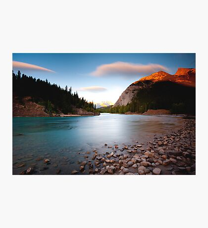 Banff, Alberta Canada - Bow River  Photographic Print