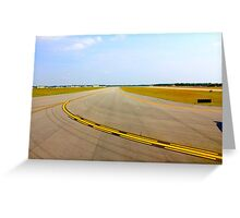 Airport Runway Takeoff View By Jonathan Green Greeting Card