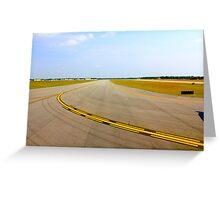 Airport Runway Takeoff View By Jonathan Green Greeting Card