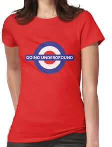 Going Underground - Roundel Womens Fitted T-Shirt