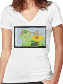 Party Duck is Back Women's Fitted V-Neck T-Shirt