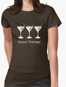 Group Therapy - White Womens Fitted T-Shirt