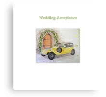 Wedding Acceptance Metal Print