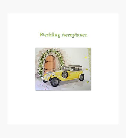Wedding Acceptance Photographic Print