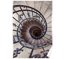 Metal spiral staircase Poster