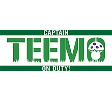 Captain Teemo On Duty! (Teemo-LoL) Photographic Print