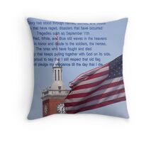 Old Glory Still Waves Throw Pillow