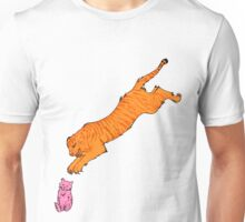 Sabre Toothed Tiger vs Kitten Unisex T-Shirt