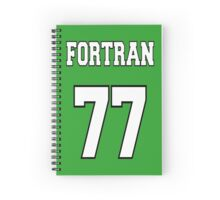FORTRAN 77 - White on Green Design for Fortran Programmers Spiral Notebook