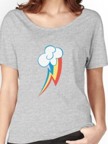 Rainbow Dash Cutie Mark (Medium icon) - My Little Pony Friendship is Magic Women's Relaxed Fit T-Shirt