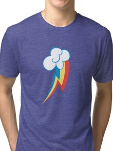Rainbow Dash Cutie Mark (Medium icon) - My Little Pony Friendship is Magic Tri-blend T-Shirt