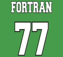 FORTRAN 77 - White on Green Design for Fortran Programmers One Piece - Short Sleeve