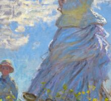 Claude Monet - The Walk, Woman with a Parasol Sticker