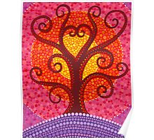 Heart Energy Radiating Tree Poster