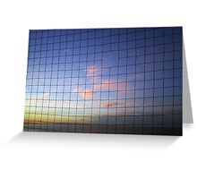 Netted Sunset - Whitstable, UK Greeting Card