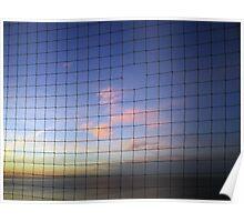 Netted Sunset - Whitstable, UK Poster