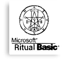 Ritual Basic Canvas Print