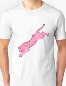 Pink Sabre-Toothed Tiger Jump T-Shirt