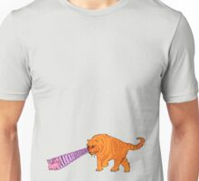 Sabre-Tooth Tiger Stalking a Pink Kitten (with laser eyes) Unisex T-Shirt